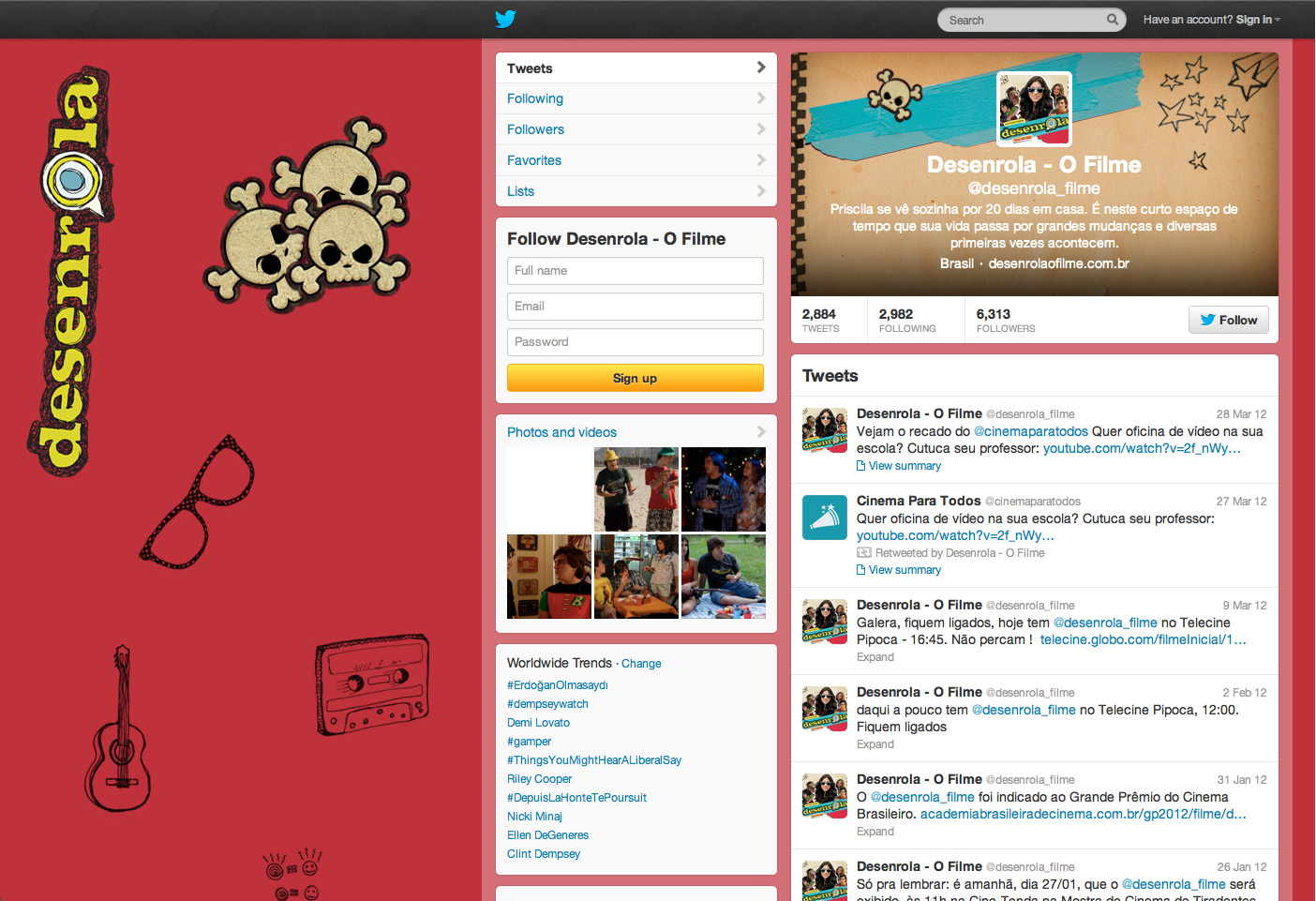 Planejamento, compra e veiculação de mídia . SMO (Social Media Optimization) . Campanha de lançamento do filme Desenrola