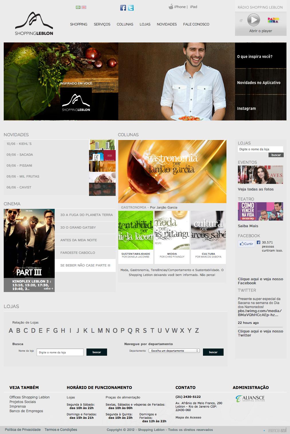 Site Institucional. Hotsites. Banners. Newsletters. Campanhas. Integração de aplicativo mobile.